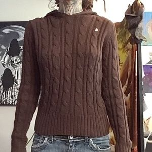 Bluenotes brown hooded sweater